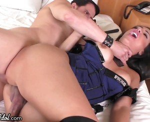 ShemaleIdol TS Cop Gets her Ass
