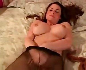 Hot Shemale Masturbates and Cums in