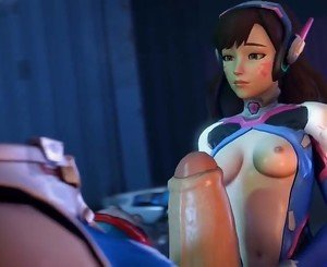 DVA and Zarya in Overwatch have sex