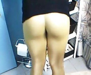 YOUNG TS THONG AND SPANDEX BOOTY