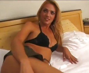 Blonde shemale got fucked